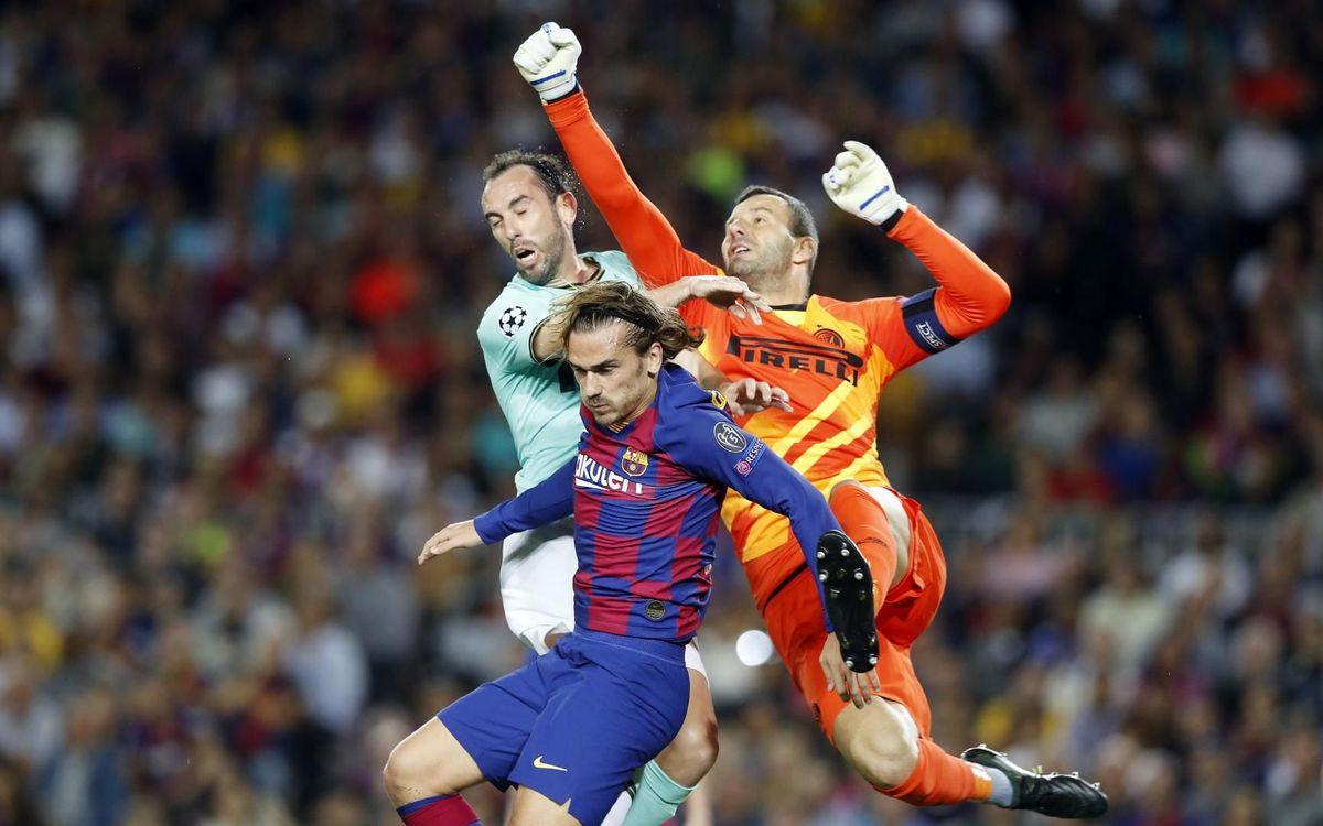 Una imatge del partit del Camp Nou