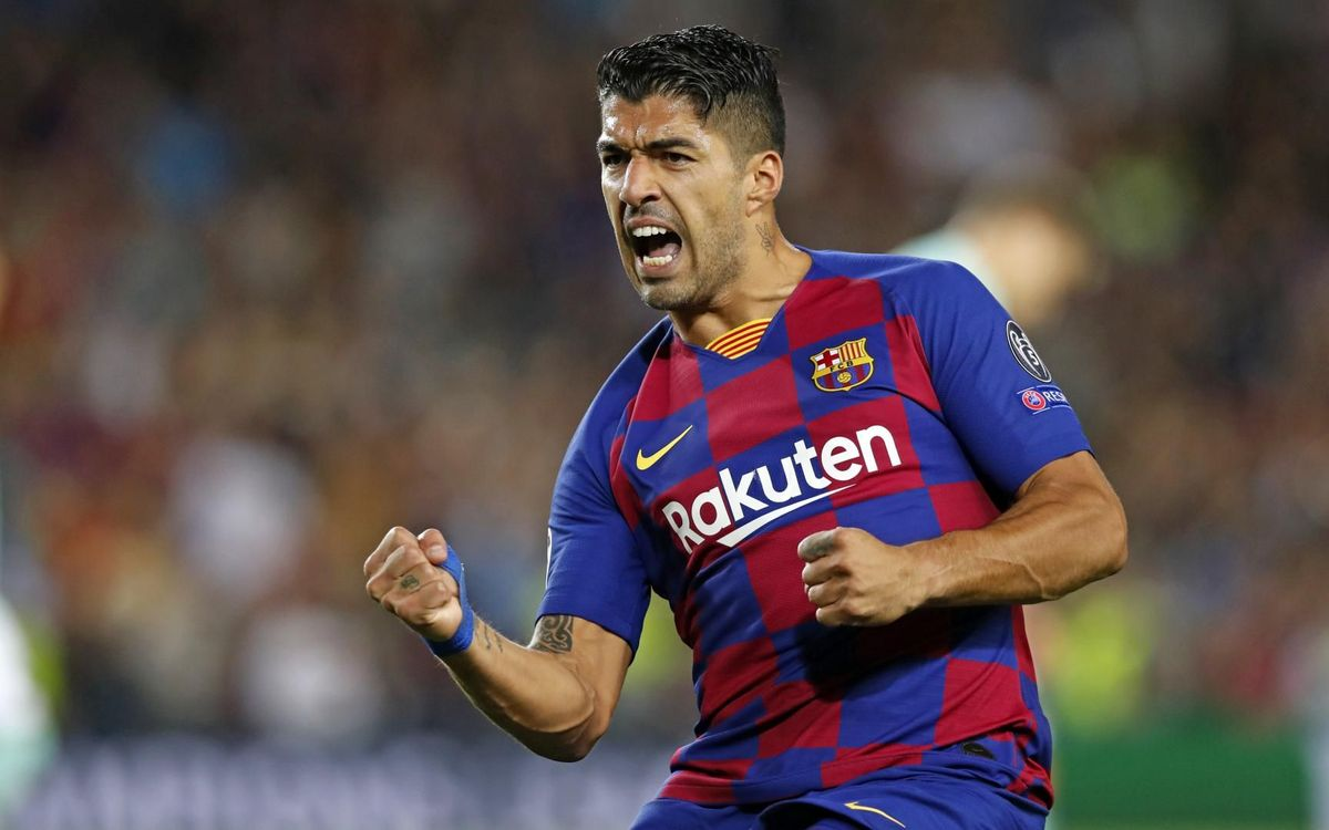 Luis Suárez celebrant un gol aquesta temporada - MIGUEL RUIZ-FCB