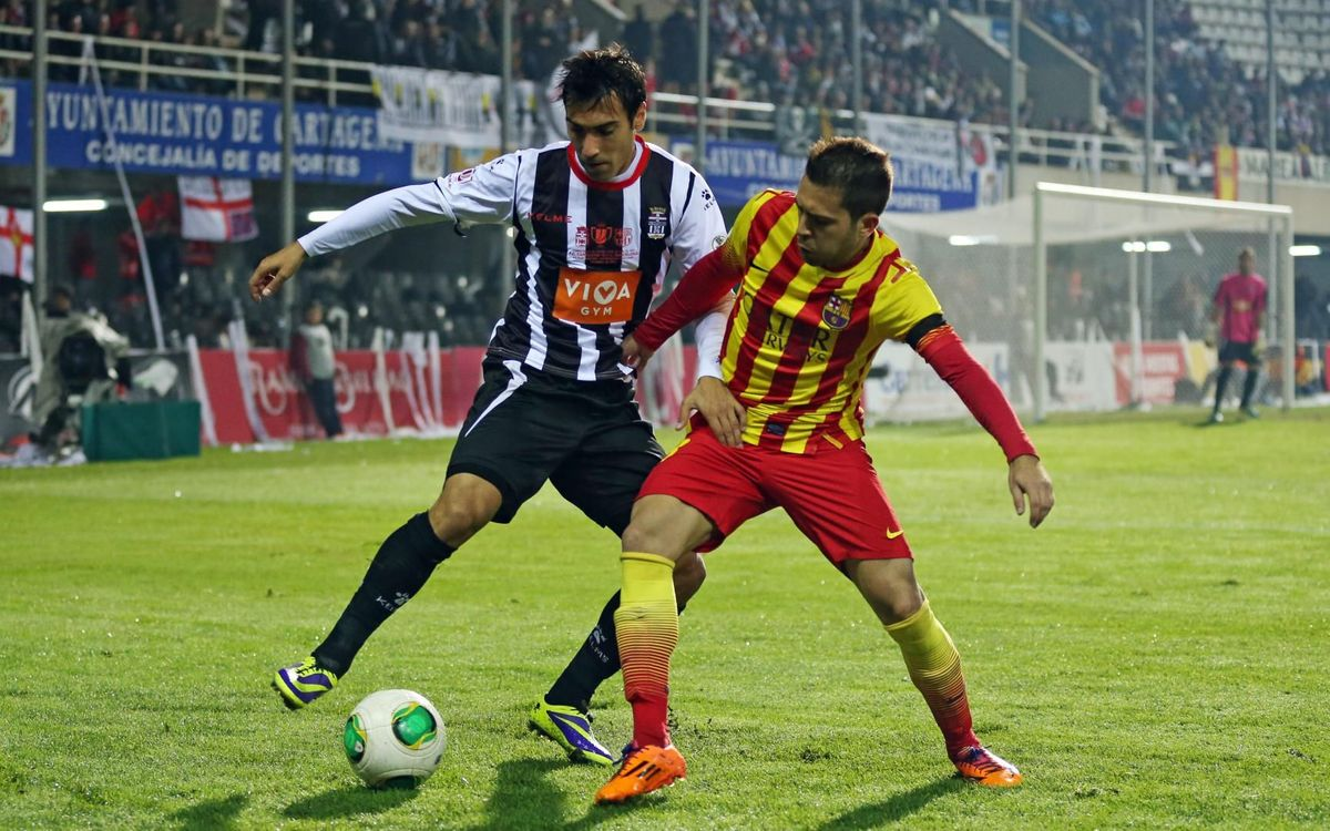 Jordi Alba in action against Cartagena in 2013/14 - MIGUEL RUIZ-FCB