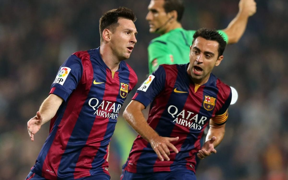Messi, on the hunt for Xavi's record