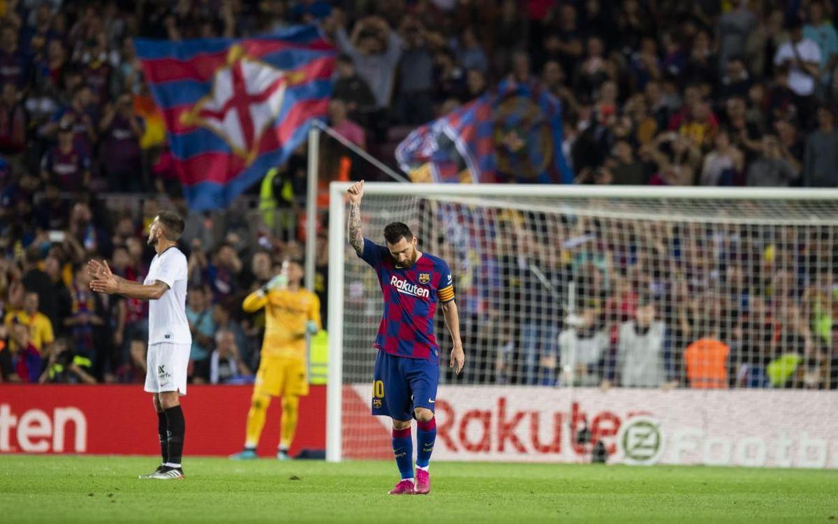 Messi sigue construyendo su leyenda