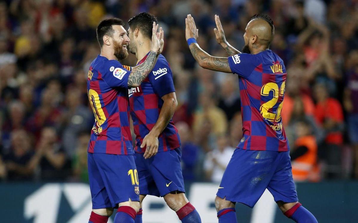 FC バルセロナ - セビージャ:  代表週前の目標達成(4-0)
