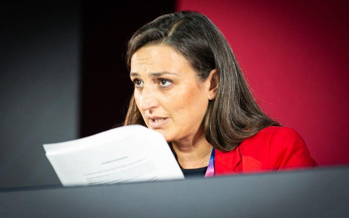 La Secretària de la Junta, Maria Teixidor