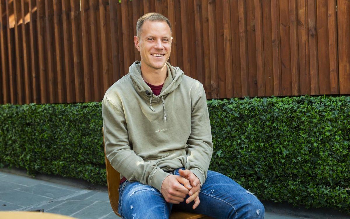 Imatge de Ter Stegen durant l'entrevista