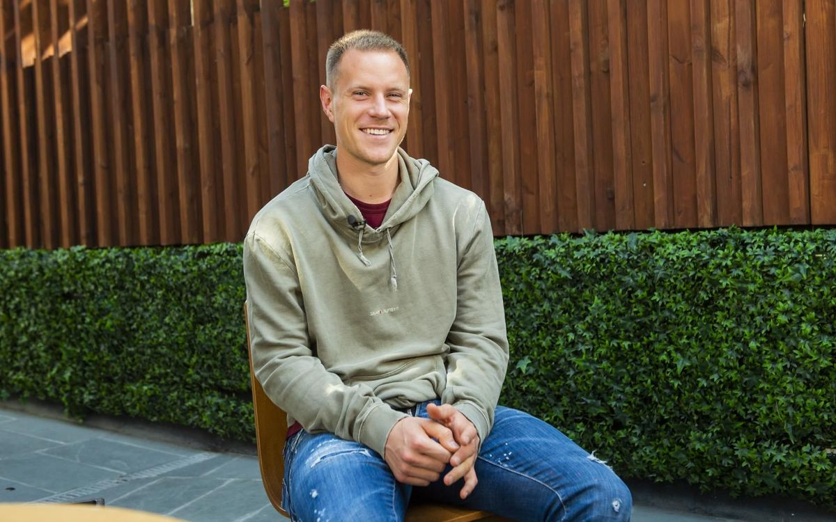 Marc-André ter Stegen during the interview