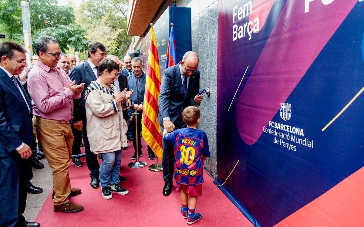 Inauguración de la nueva sede de la Federación de Peñas del Barcelonès Est