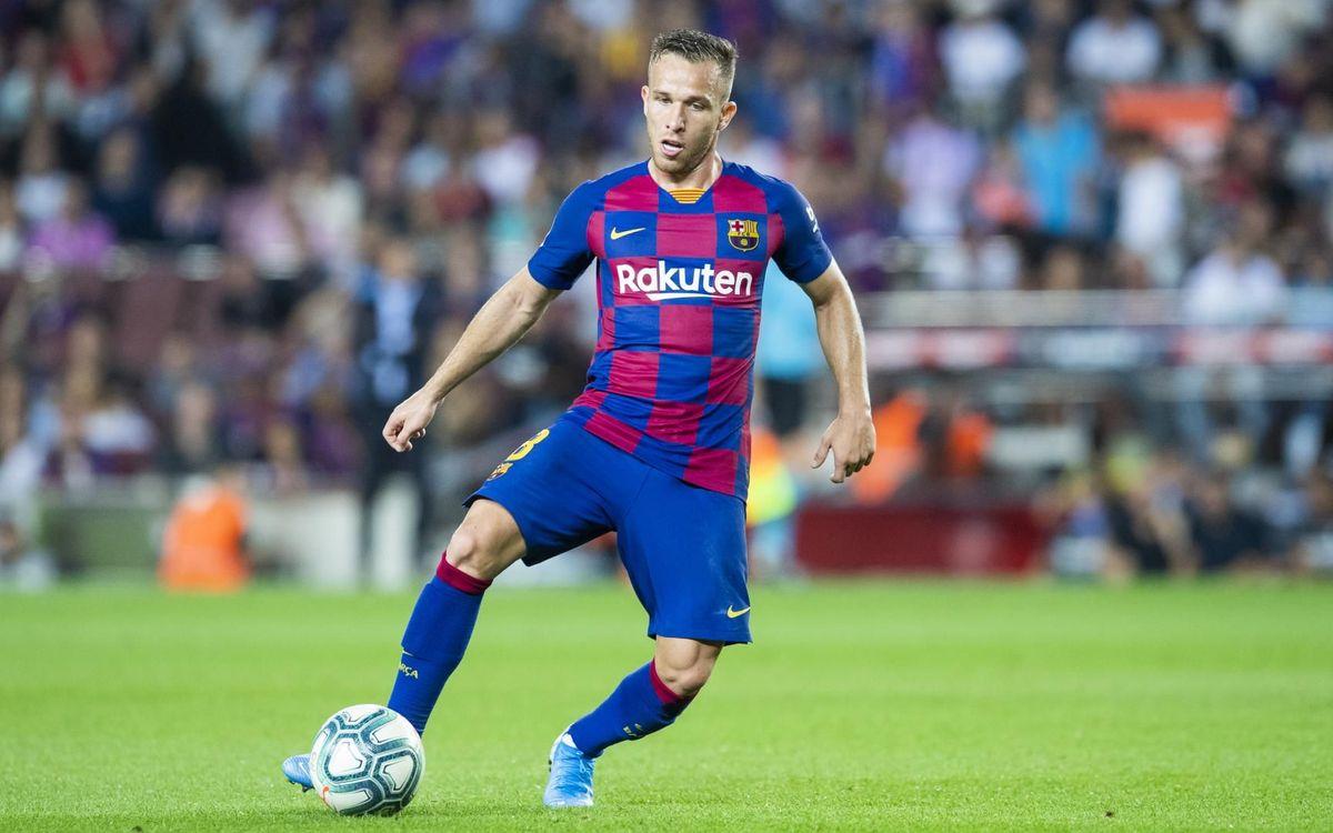 Arthur en un partit d'aquesta temporada al Camp Nou - VÍCTOR SALGADO-FCB