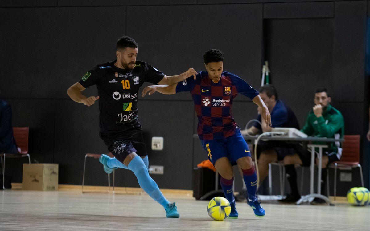 Barça B – Software DELSOL Mengíbar (1-3): La suerte no acompaña