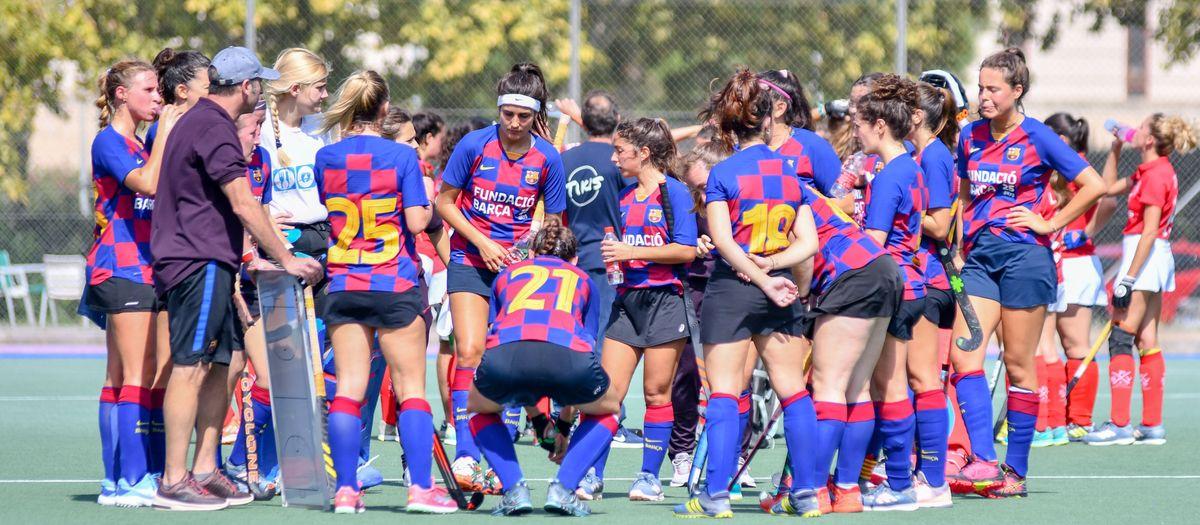 Primera victòria del Barça Hockey Herba femení