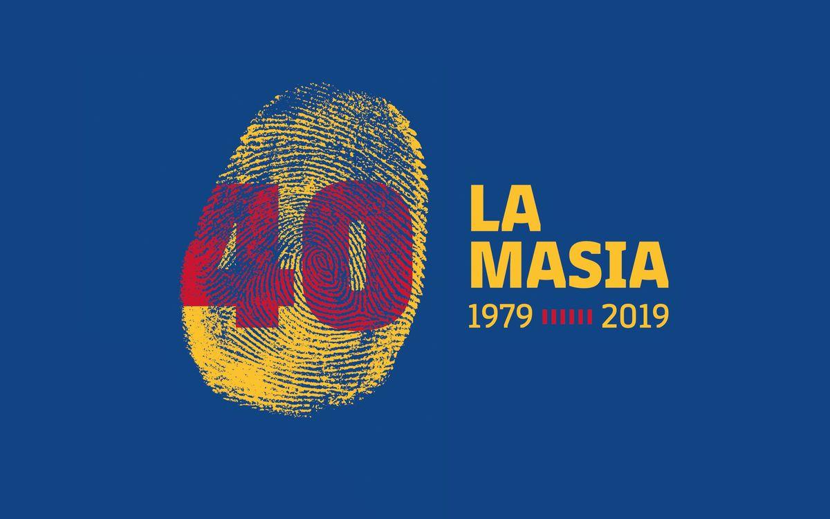 Logotip expressament dissenyat per a l'ocasió i que inclou una empremta amb el número 40