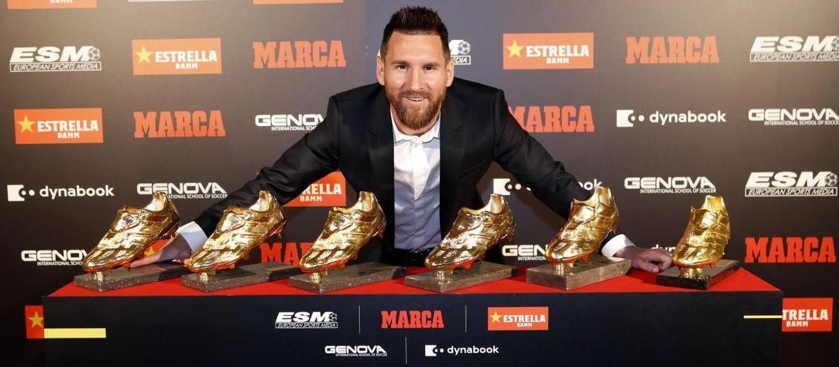 Messi recibe su sexta Bota de Oro.
