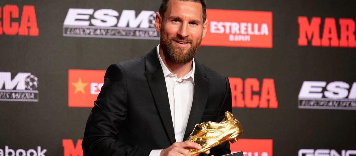 Messi reçoit son 6ème Soulier d'Or