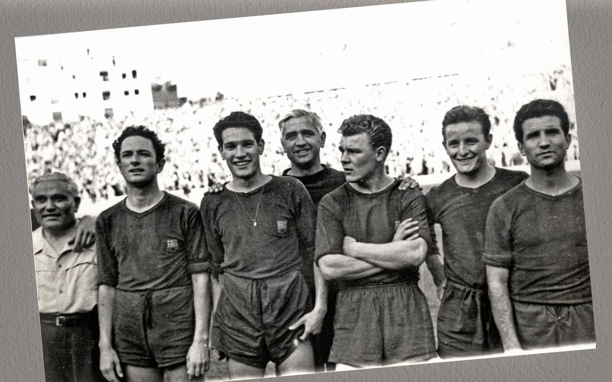 Ferdinand Daucik managed Barça in the legendary Five Cups season