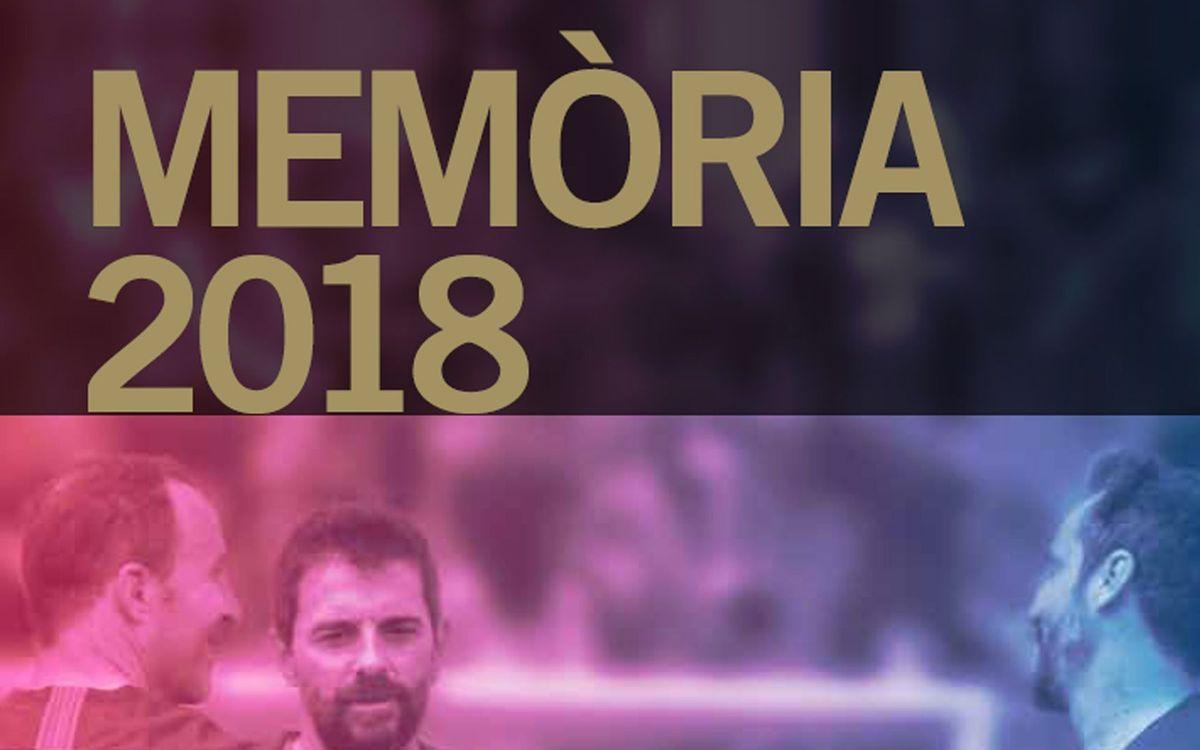 La Agrupación Barça Jugadores cuenta en la Memoria su actividad anual.