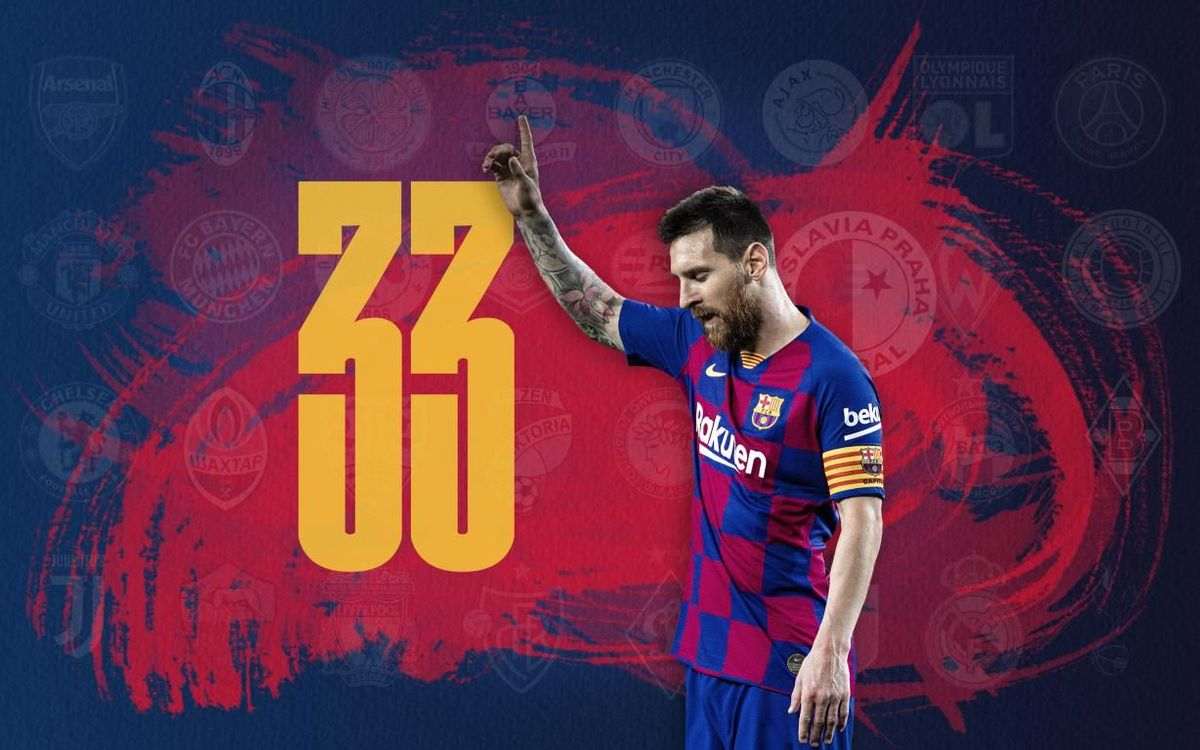 33 and counting for Leo Messi in the Champions League
