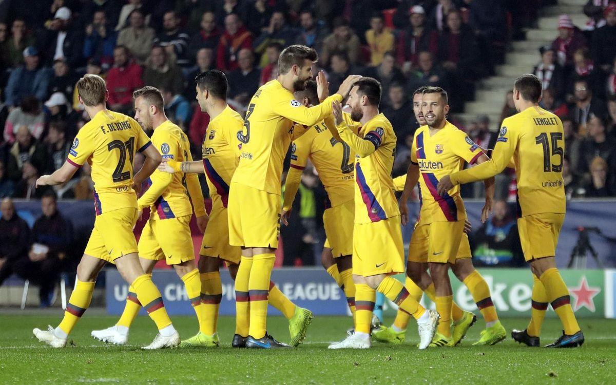 Slavia de Praga - Barça: Con paso firme en Europa (1-2)