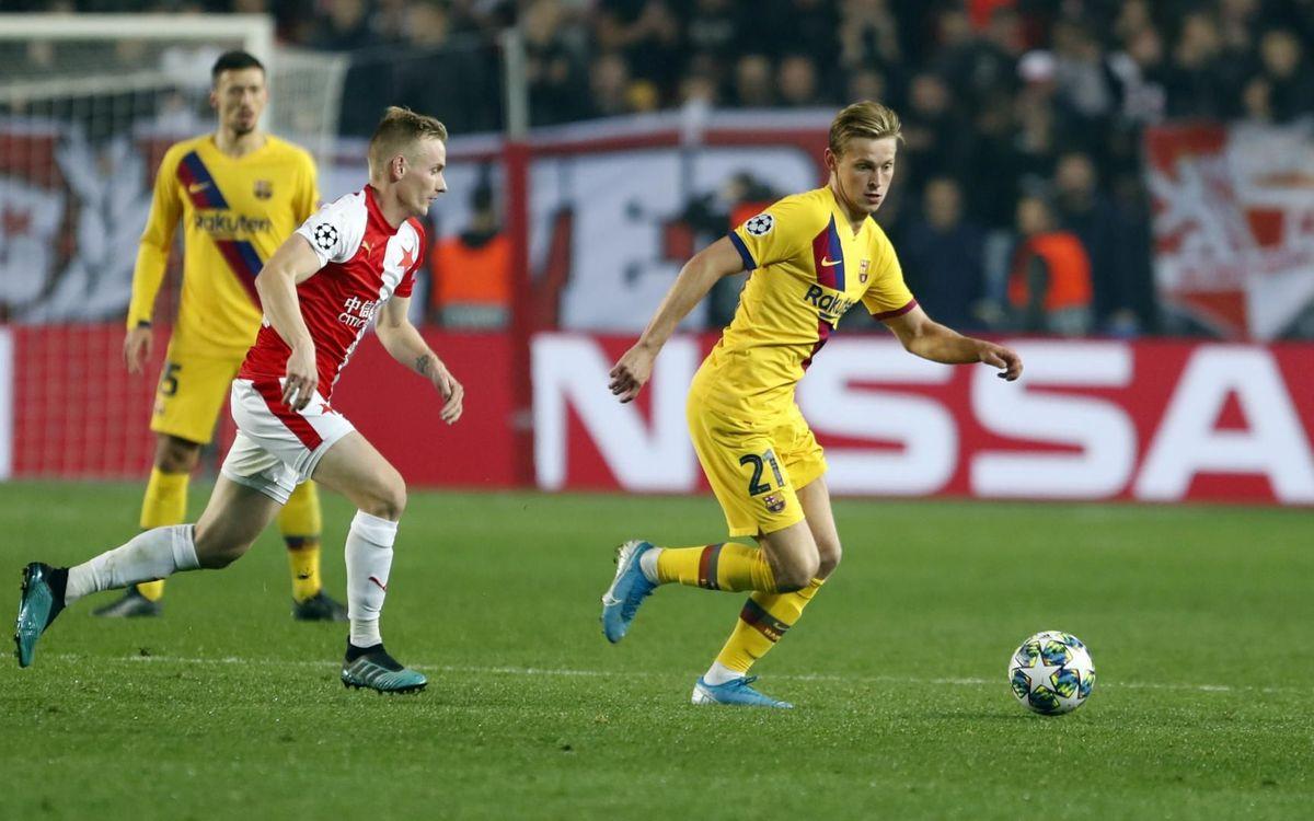 Així va ser el partit d'anada contra l'Slavia