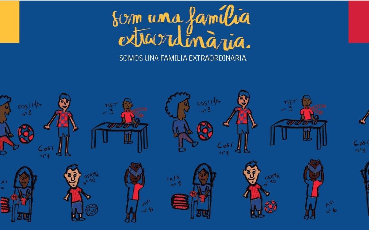 Felicitaciones De Navidad Del Fc Barcelona.Xv Mostra De Nadales Blaugrana Para Socios De 3 A 15 Anos