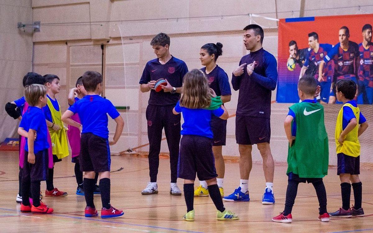 Sergio Lozano ejerce de asesor de la Barça Academy de Futsal