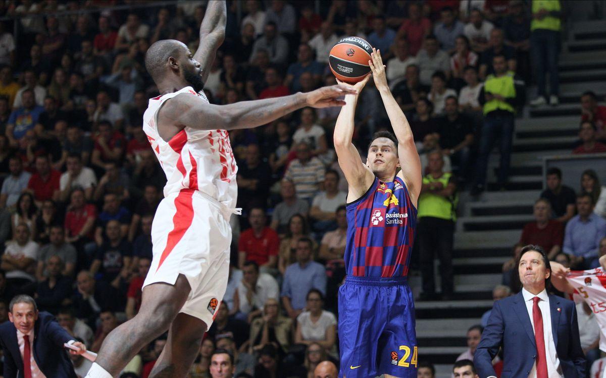 Estrella Roja - Barça: Electricitat culer a Belgrad (65-73)