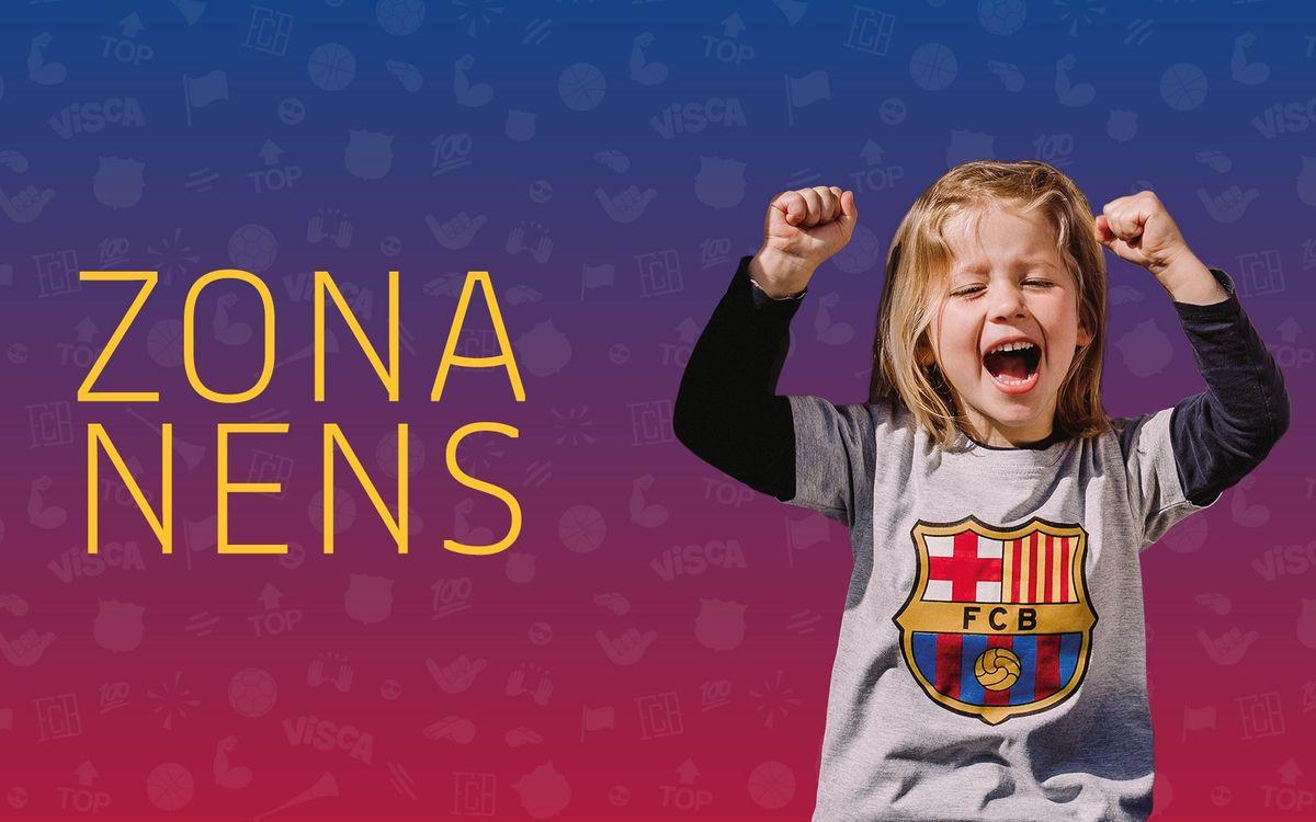 Benvingut a la Zona Nens del FC Barcelona!