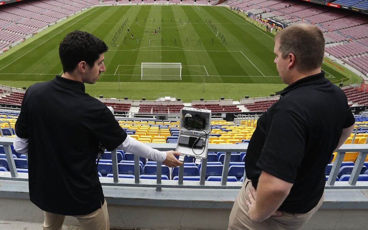 FIFA chooses Camp Nou to test the data monitoring systems used in the world of football
