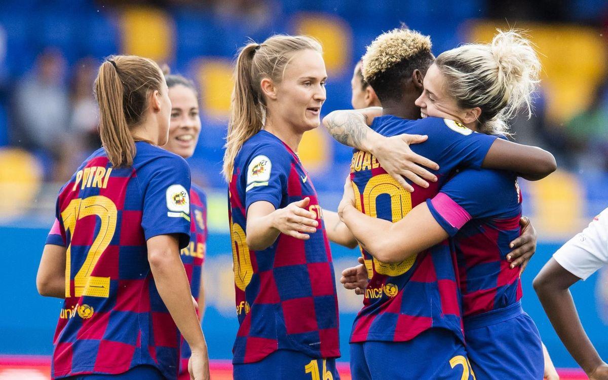 Madrid CFF - FC Barcelona Femenino: Efectividad azulgrana (0-4)