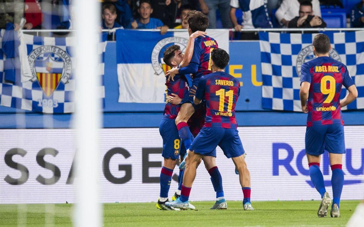 Barça B - Sabadell: Prestigiosa victoria (1-0)