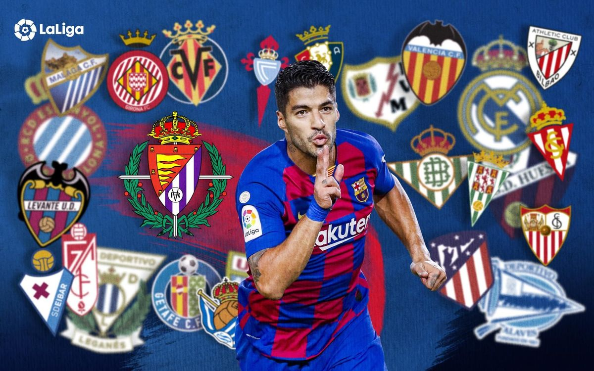 Luis Suárez has scored against all 27 of his La Liga opponents