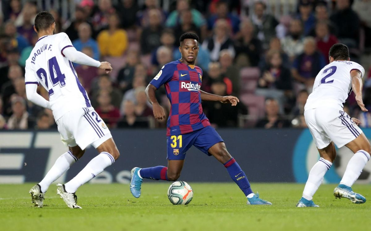 Ansu Fati, titular davant el Valladolid