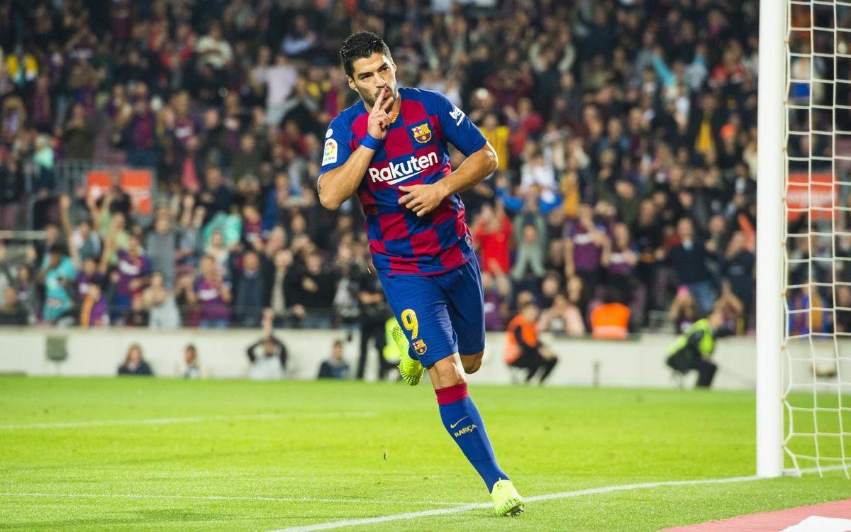 Suárez cerró la goleada ante el Valladolid