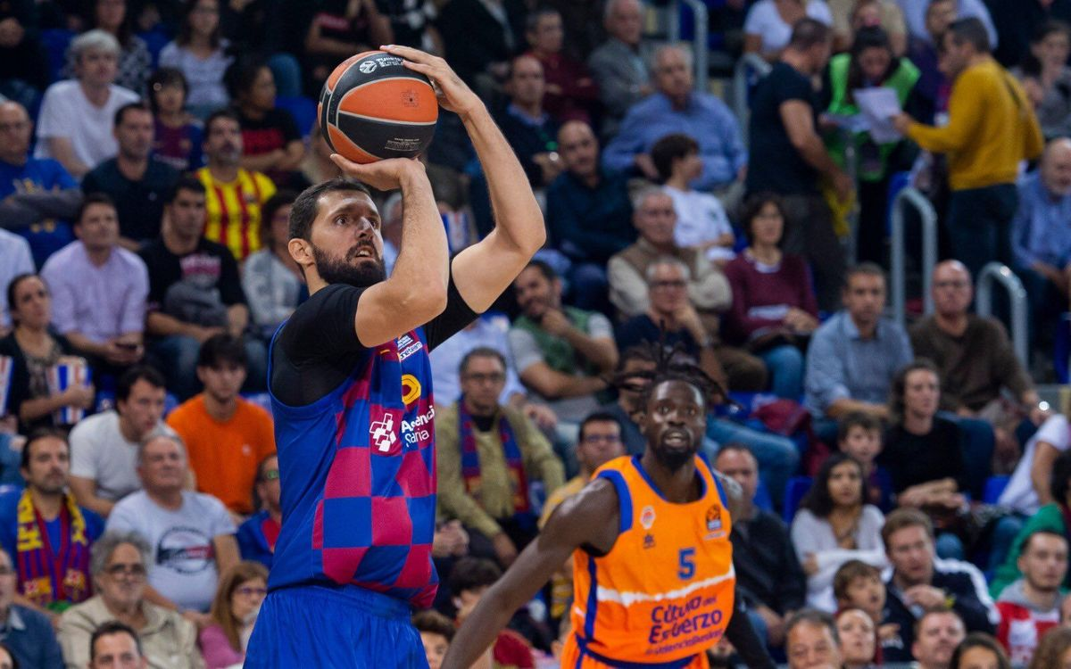 Barça 83-77 Valencia Basket: Five out of five