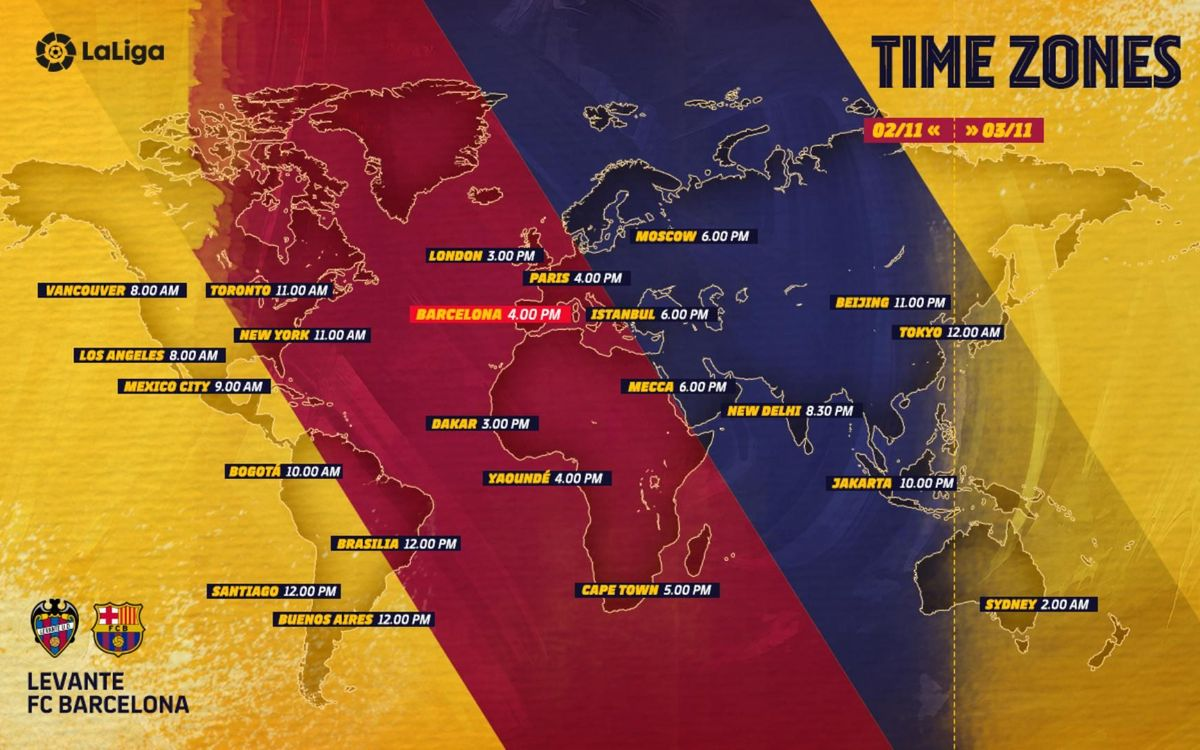 When and where to see Levante v FC Barcelona