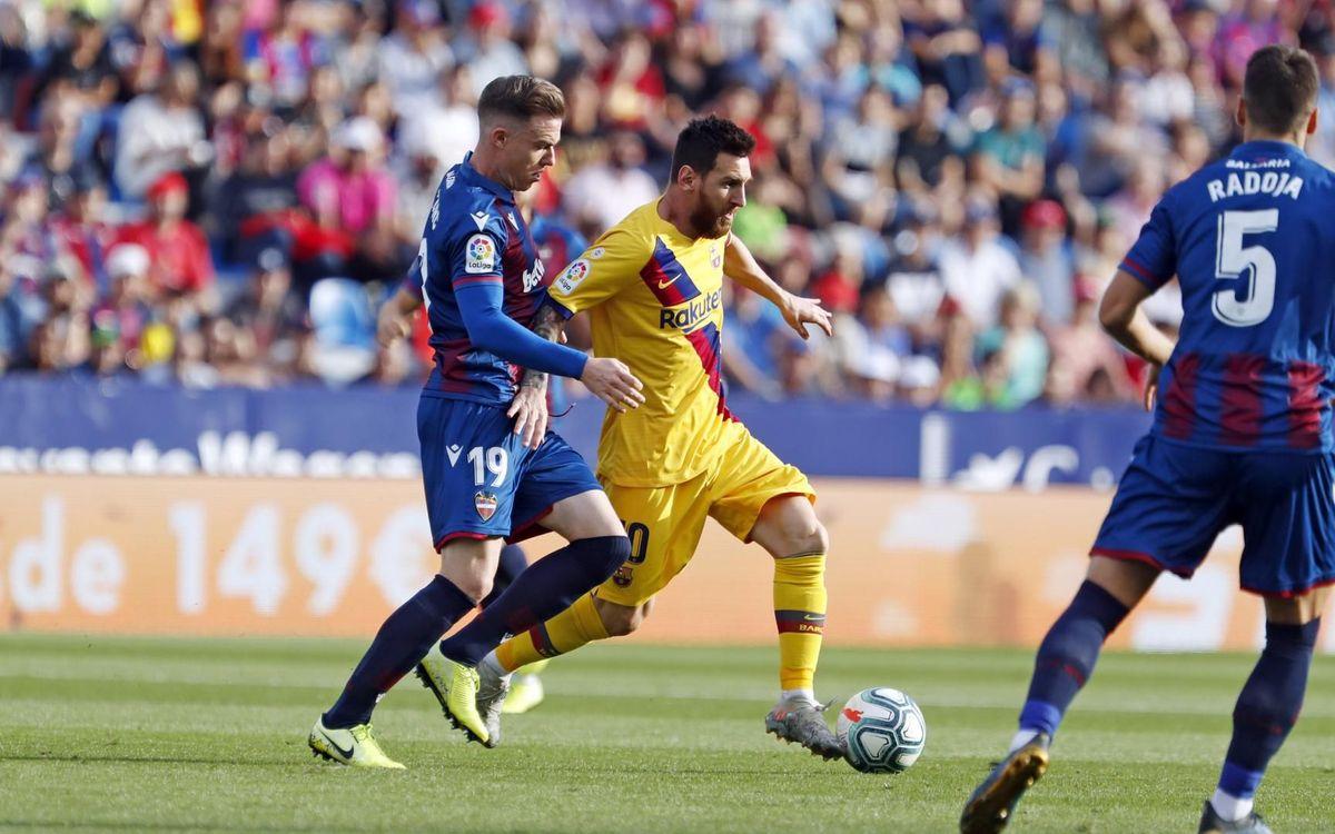 Levante - Barça: Se termina la racha (3-1)