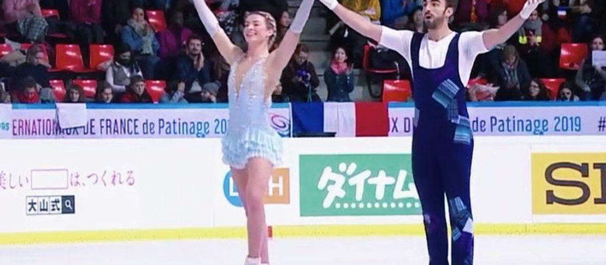 Olivia Smart y Adrián Díaz, cuartos en el Grand Prix Internationaux de Francia