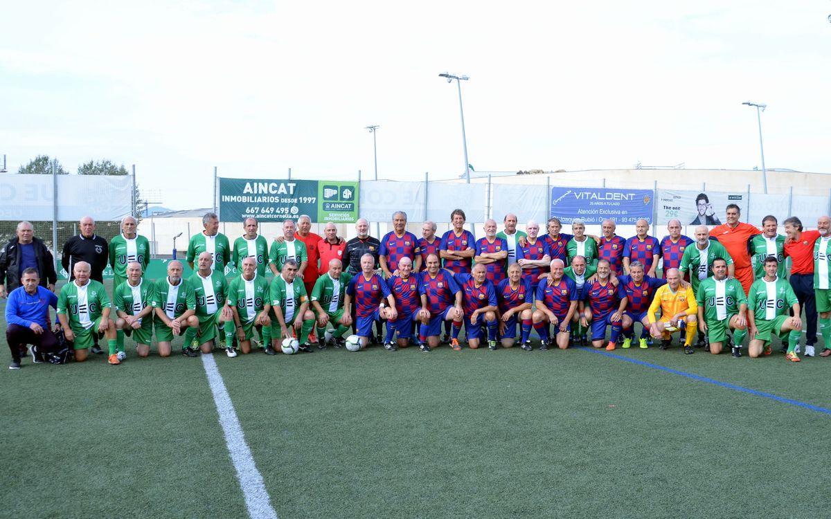 Los Veteranos de la Agrupación Barça Jugadores se midieron en un amistoso ante la Unión deportiva Cornellá el pasado sábado 1 de noviembre
