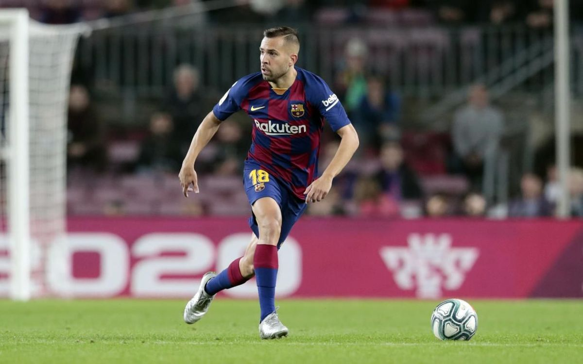 Jordi Alba suffers relapse of hamstring injury against Slavia