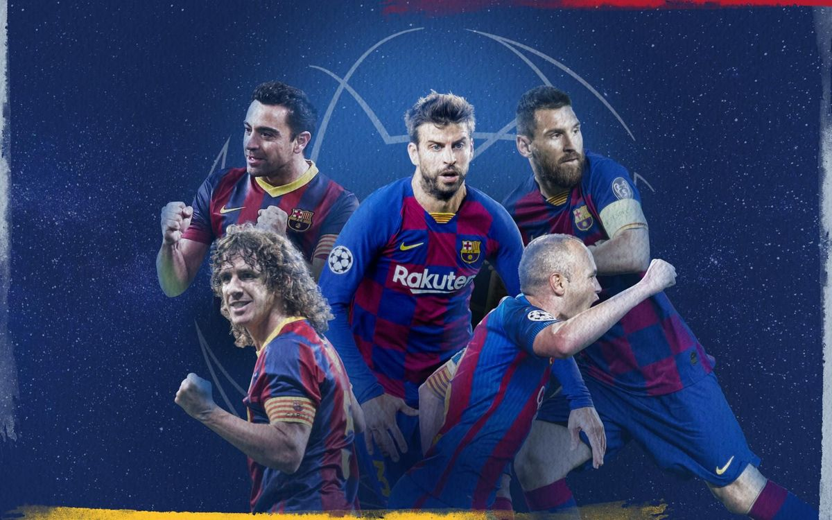 Piqué in Top 5 for Barça Champions League appearances