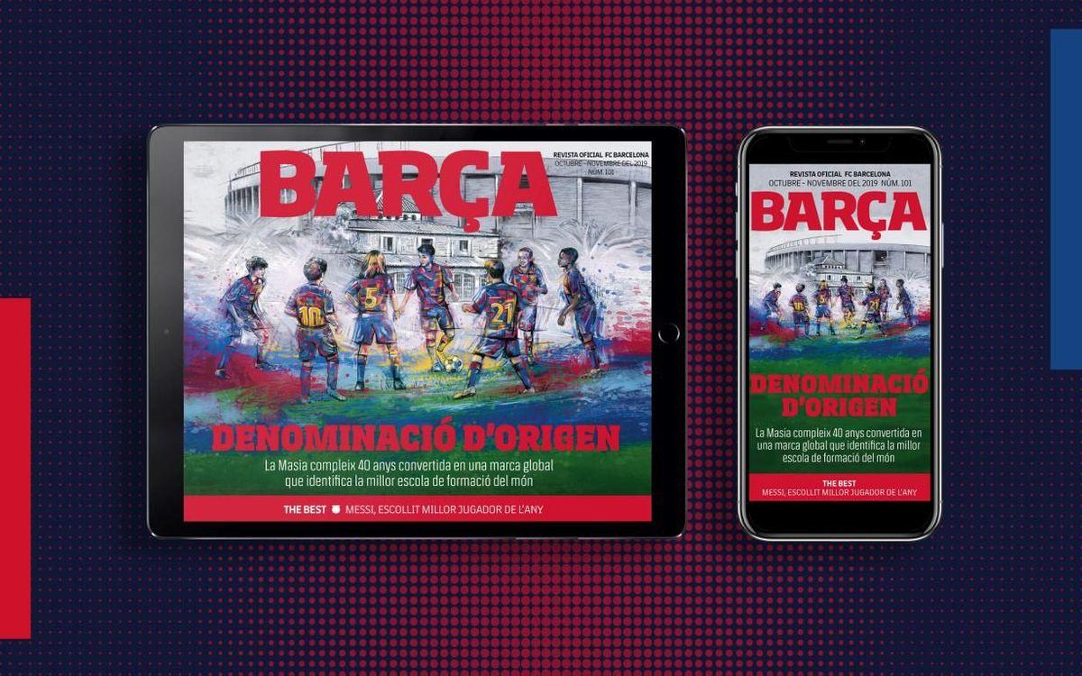 El número 101 de la REVISTA BARÇA, ja disponible en format multimèdia