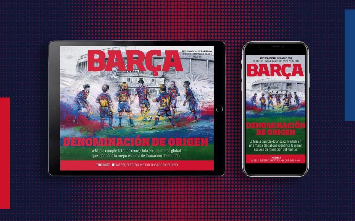 El número 101 de la REVISTA BARÇA, ya disponible en formato multimedia
