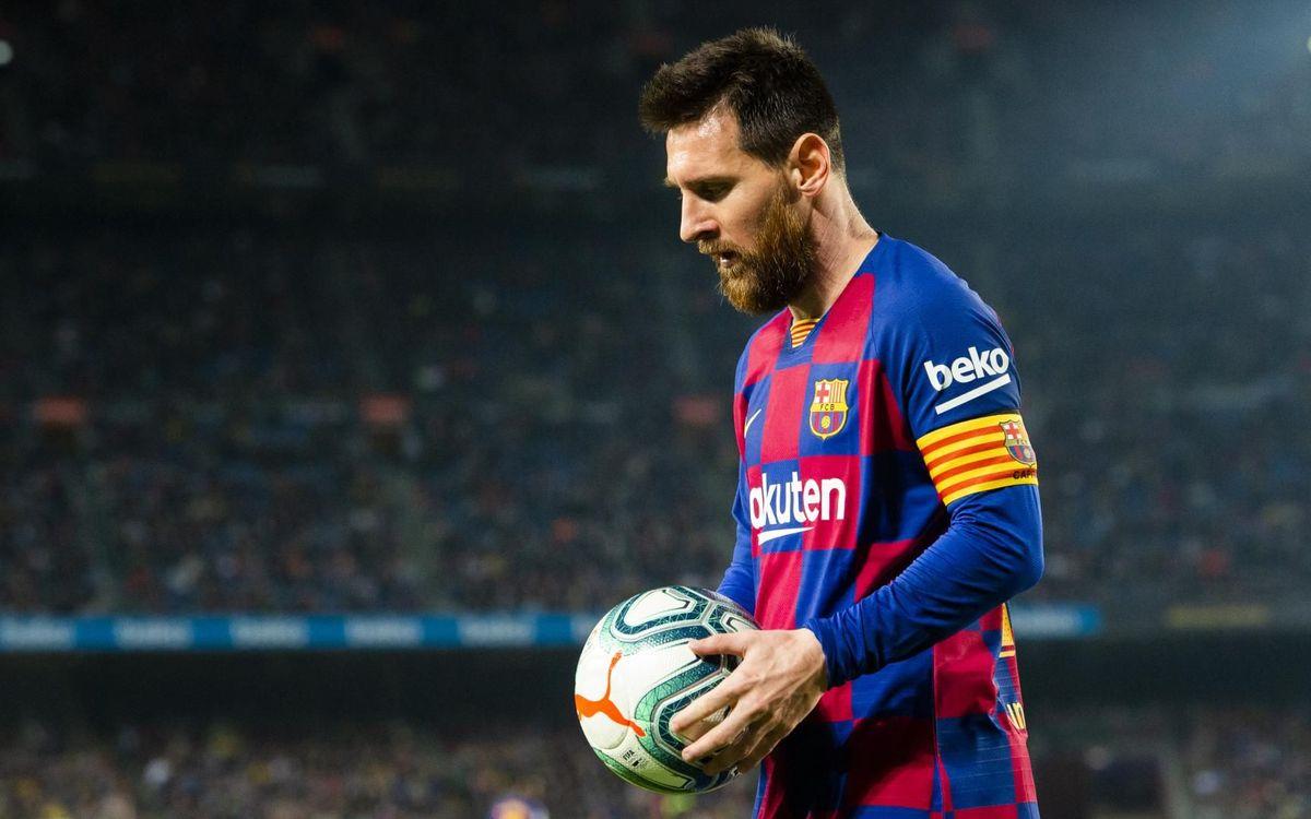 Messi, au Camp Nou   Photo : Victor Salgado