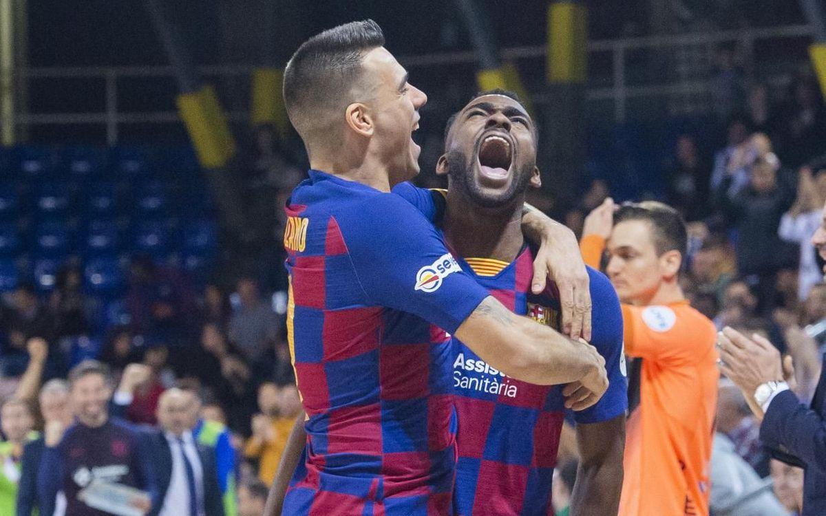 Barça - Burela: Vendaval golejador al Palau (7-2)
