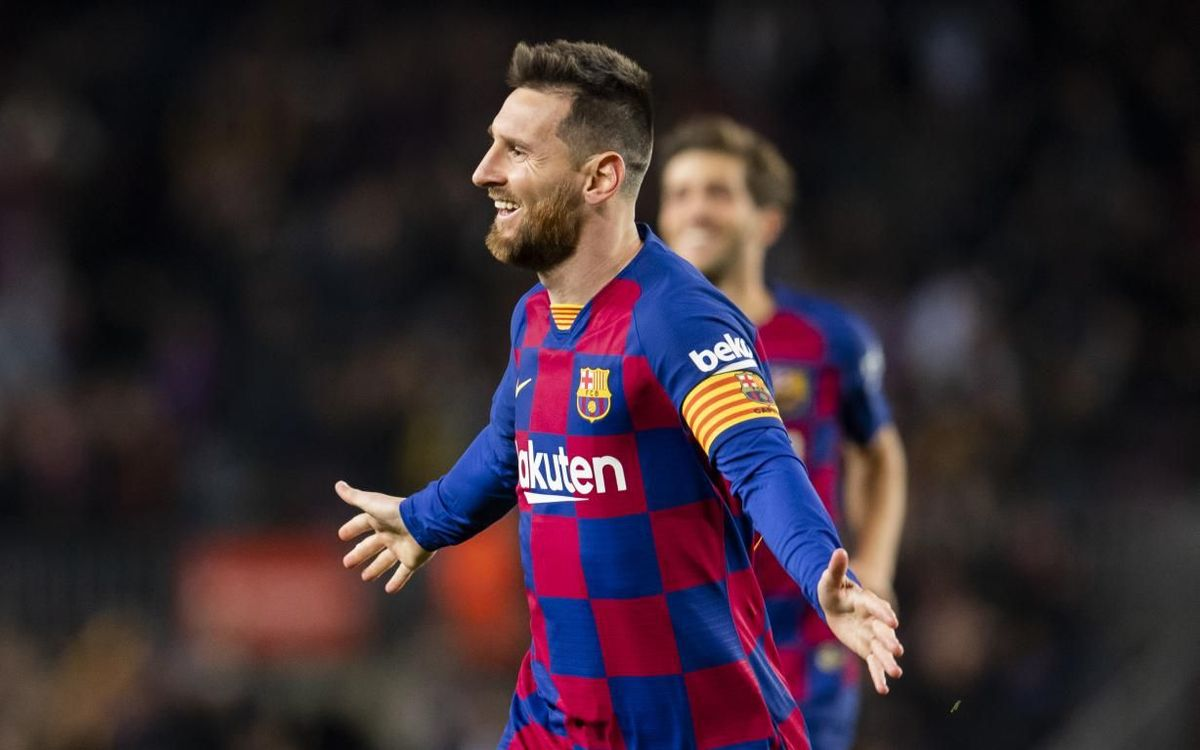 Messi célèbre un but contre le Celta