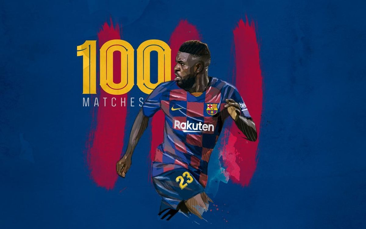 Umtiti joins 100 club