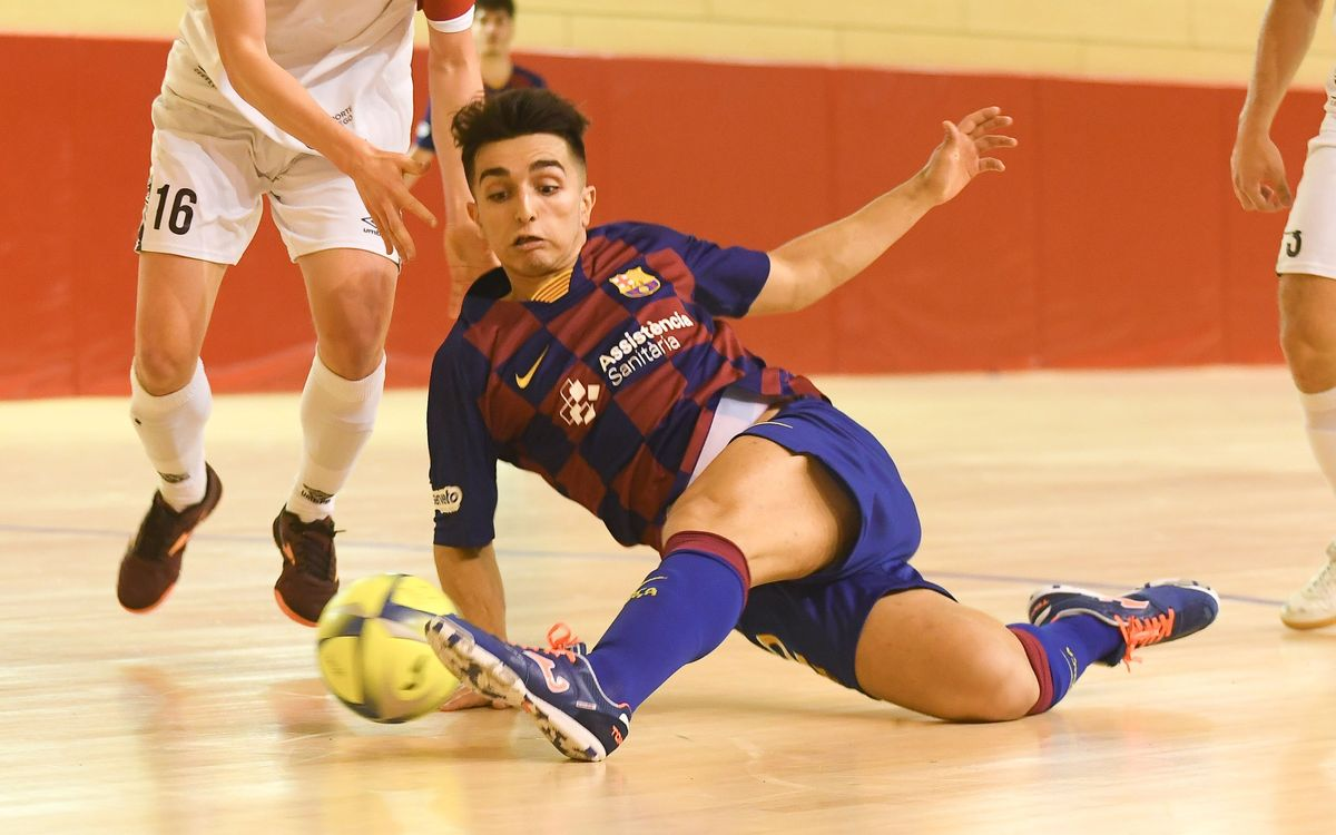 Barça B – Santiago Futsal (3-2): Primer triunfo en casa