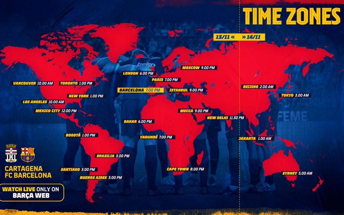 Cartagena-Barça (time zone)