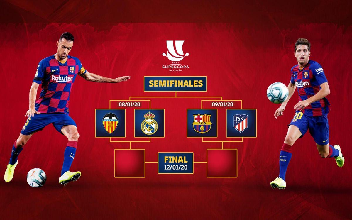 El Atlético de Madrid, rival del Barça en las semifinales de la Supercopa de España