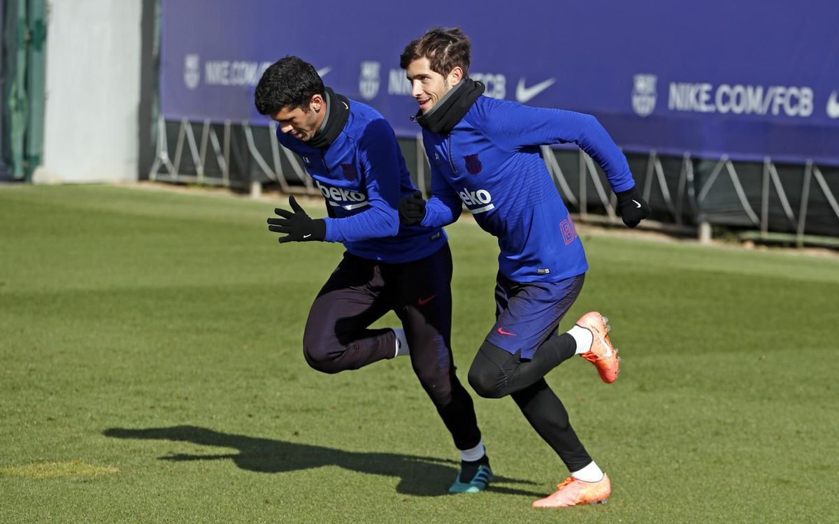 A session without the players on international duty