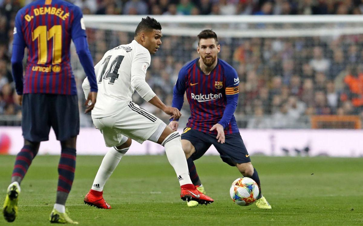 Le Clasico Barça - Real Madrid se jouera le 18 décembre à 20h