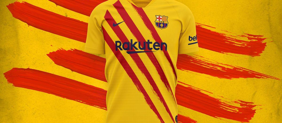 Le Barça rend hommage à ses racines avec le drapeau catalan dessiné sur son nouveau maillot